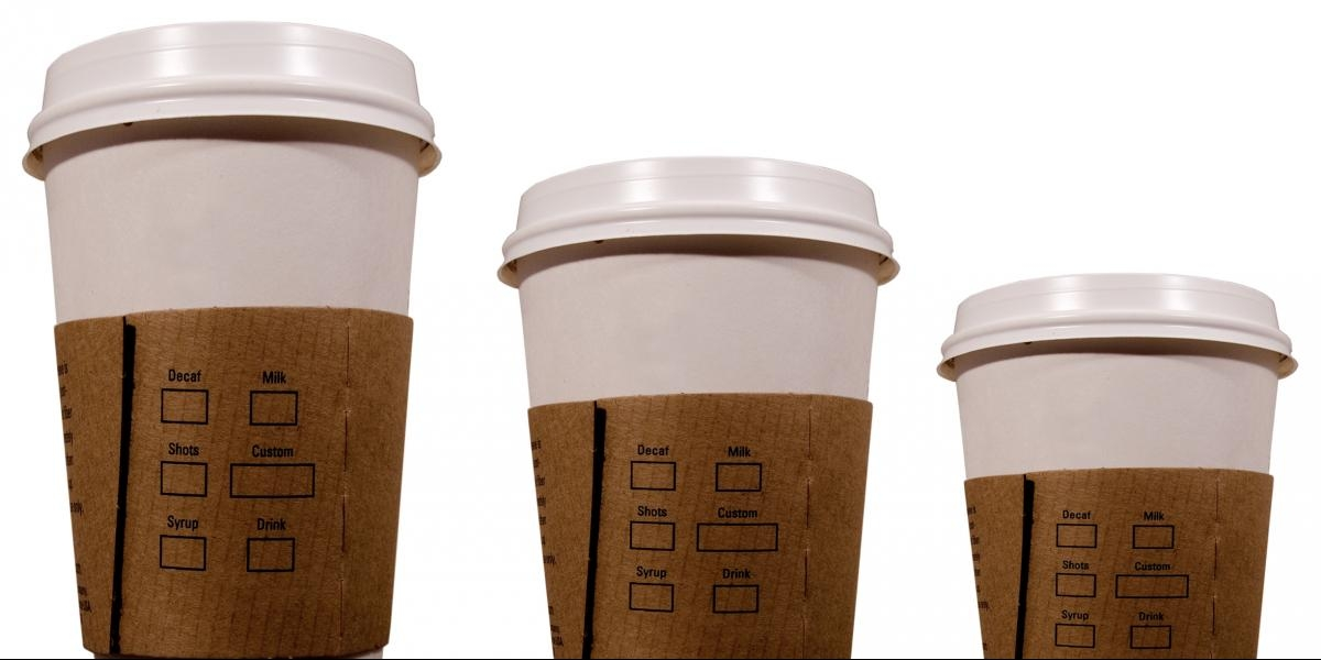Different Size Coffee Cups
